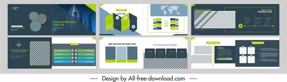 corporate brochure templates modern horizontal design