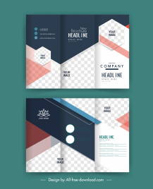 corporate brochure templates modern trifold checkered design