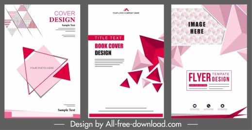 corporate brochure templates pink modern 3d geometric decor