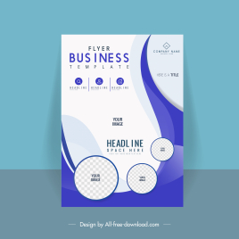 corporate flyer cover template modern checkered circles curves
