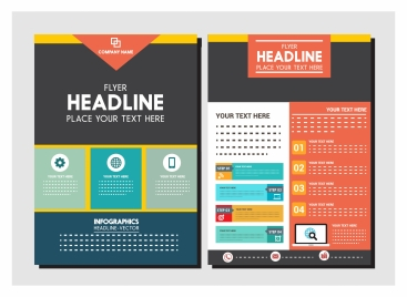 corporate flyer design with colorful infographic style