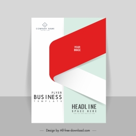corporate flyer template elegant bright 3d sketch