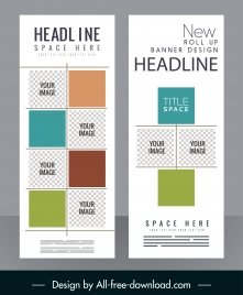 corporate flyer template modern checkered flat squares decor