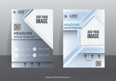 corporate flyer template modern elegant design checkered decor