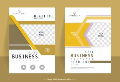 corporate flyer templates bright checkered decor elegant modern