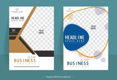 corporate flyer templates elegant bright checkered decor