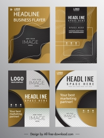corporate flyer templates elegant modern technology design