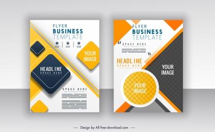 corporate flyer templates modern colorful flat geometric decor