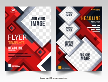 corporate flyer templates modern colorful geometric decor