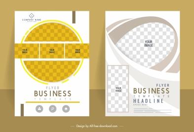 corporate flyer templates technology design modern checkered decor