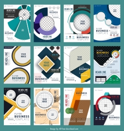 corporate flyers templates collection colorful modern design