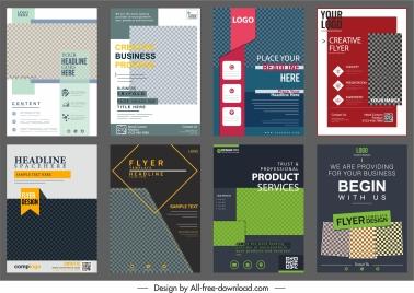 corporate flyers templates modern elegant checkered decor