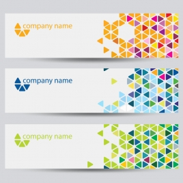 corporate identity horizontal banner sets with colorful background