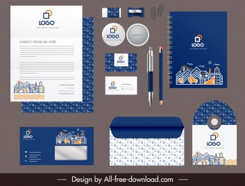 corporate identity templates modern architectural houses decor
