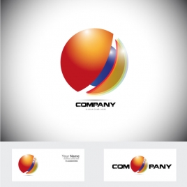 corporate logo design with 3d shiny circle illustration