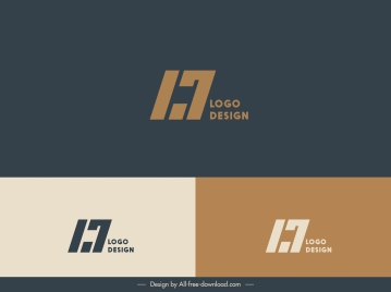 corporate logo template abstract texts type
