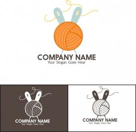 corporate logotype isolation needlework icons design