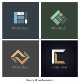 corporate logotypes abstract flat geometric design