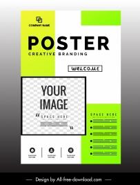 corporate poster modern bright flat decor