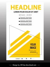 corporate poster modern bright flat geometric decor