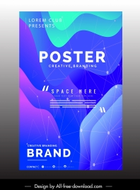 corporate poster template modern colorful dynamic technology decor