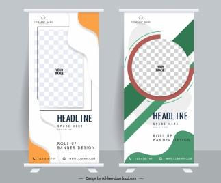 corporate poster templates modern bright vertical design checkered decor