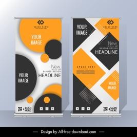 corporate poster templates modern geometric decor standee shape