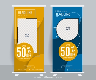 corporate sales banners modern vertical roll up design
