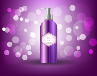 cosmetic advertisement violet bokeh decoration sprayer icon