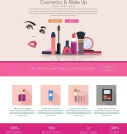 cosmetic branding advertisement webpage design style