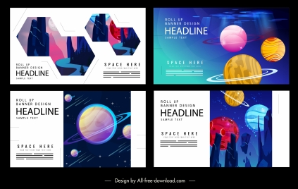 cosmos science background templates colorful modern decor