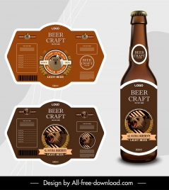 craft beer template classic brown bear decor