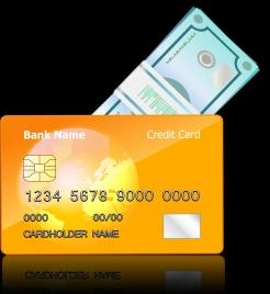 credit card advertising orange design cask icon decor
