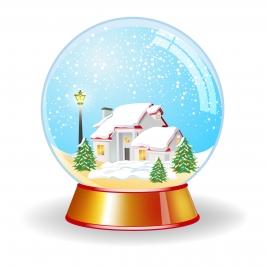 crystal magic globe with house unde snow
