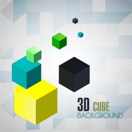 cube background colorful 3d decoration