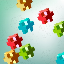 cubes background colorful 3d sketch