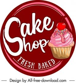 cupcake label template colorful classic flat decor