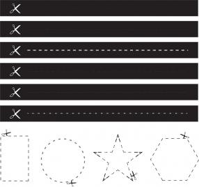 cutting lines design element various flat dark geometry