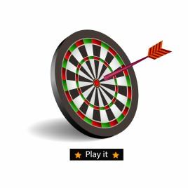 Darts board goal target