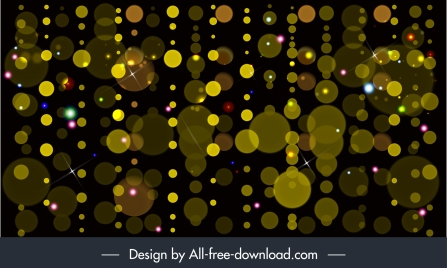 decor background bokeh sparkling yellow round light effect
