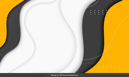 decorative abstract background modern contrast dynamic curves decor