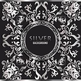 decorative background classical silver symmetric curves decor
