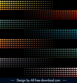 decorative background colored circles lights effect horizontal layout