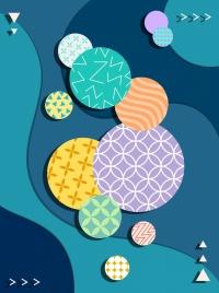 decorative background colorful flat circles ornament