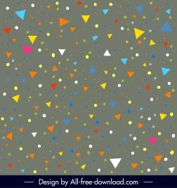 decorative background colorful geometric triangle circles design