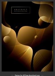 decorative background contrast golden black modern dynamic 3d