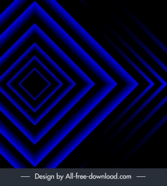 decorative background dark blue symmetric geometric design
