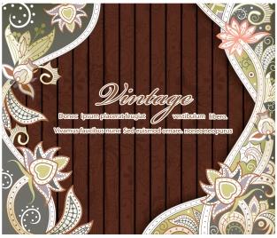 decorative background illustration with vintage style