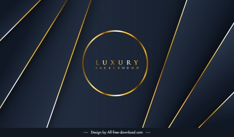 decorative background luxury golden dark lines circle decor