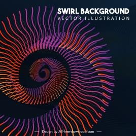 decorative background modern dynamic spiral shape